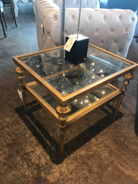 Glass Square Top Side Table