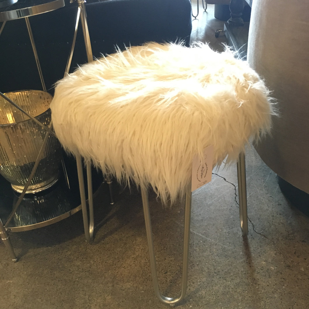 Fur Stool, Home Furnishings, Laura of Pembroke