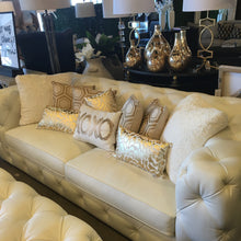 White Leather Tufted Sofa