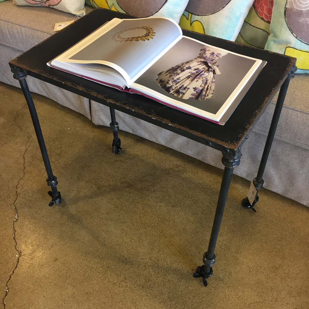 Metal Table on Casters, Home Furnishings, Laura of Pembroke