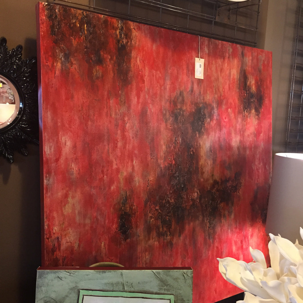 Red Abstract Painting, Home Accessories, Laura of Pembroke