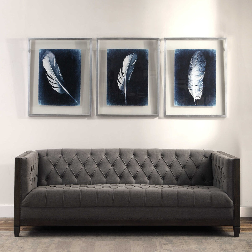 INVERTED FEATHERS FRAMED PRINTS