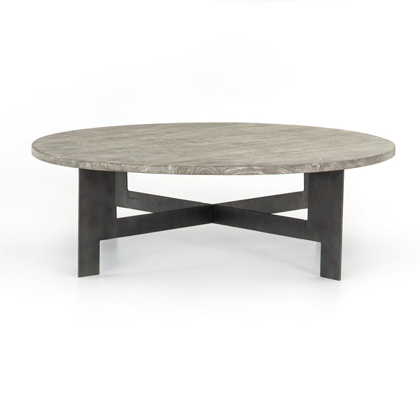 Charcoal Round Top Coffee Table