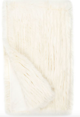 IVORY APRÉS MINK FAUX FUR THROW