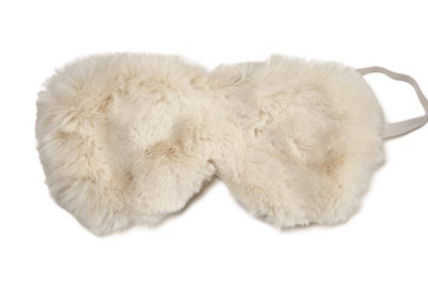 IVORY MINK FAUX FUR EYE MASK