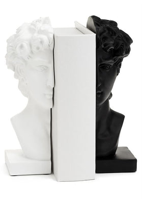 Julius Set of 2 Black and White Bookends