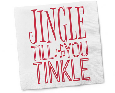 Jingle Till You Tinkle Cocktail Napkins
