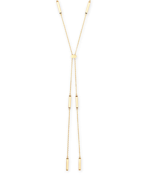 Josephine Y Necklace Gold