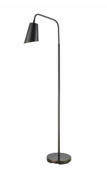 KAMINSKI OIL RUBBED BRONZE FLOOR LAMP