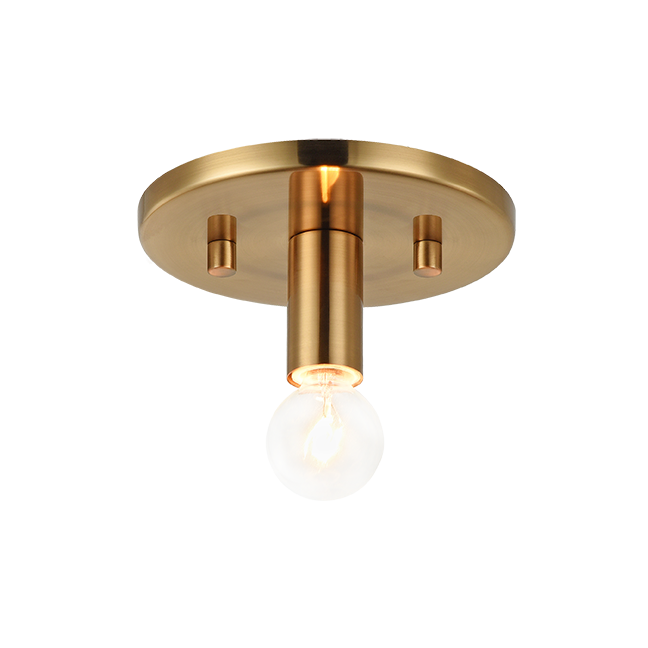 Kasa Aged Gold Brass Small Flush Mount