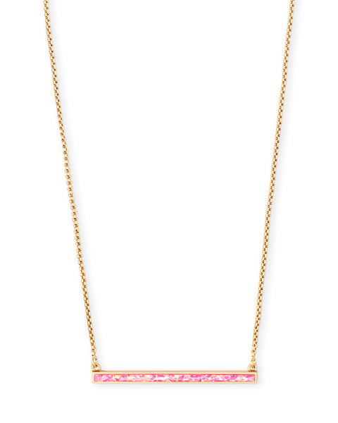 KELSEY NECKLACE - HOT PINK KYOCERA OPAL