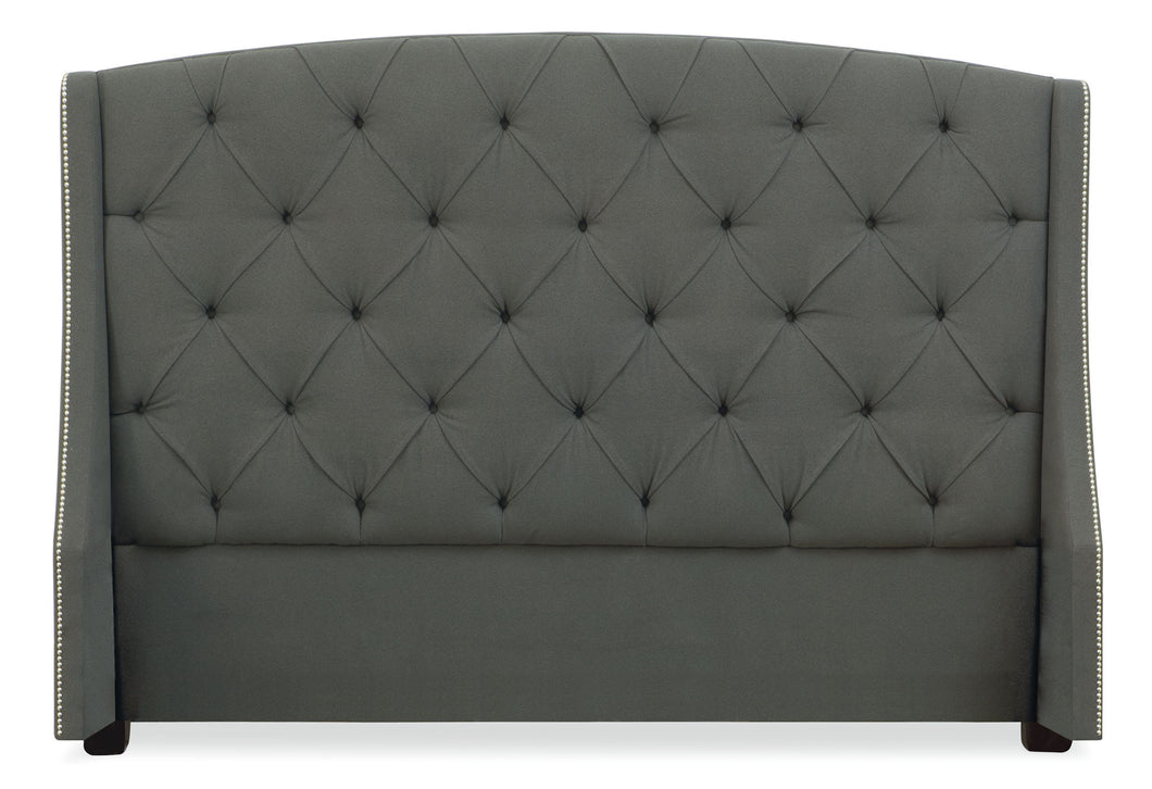 King Button Tufted Wing Headboard