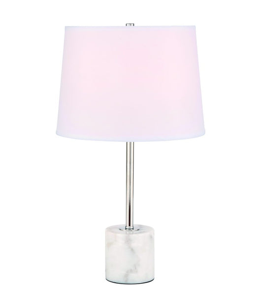Kira 1 light Polished Nickel Table Lamp
