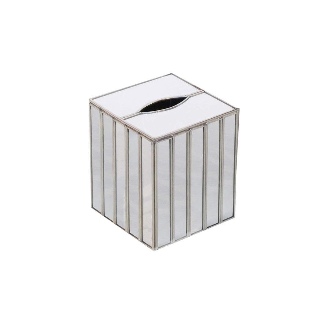 Mirrored Faceted Kleenex Box