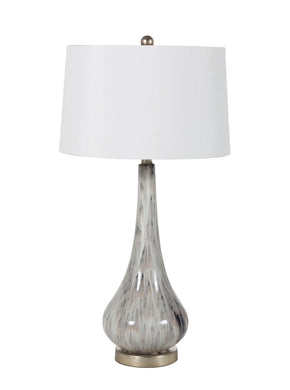 Gray Marbled Table Lamp