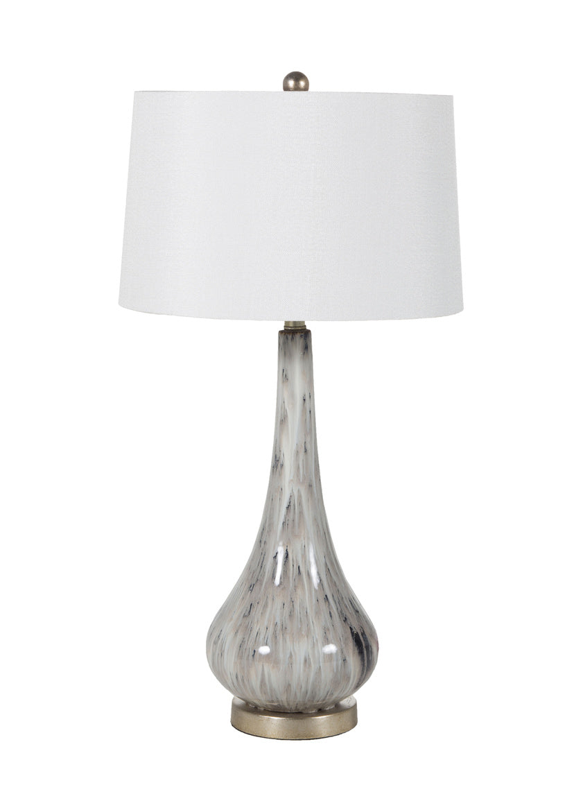 Gray Marbled Table Lamp, Home Furnishings, Laura of Pembroke