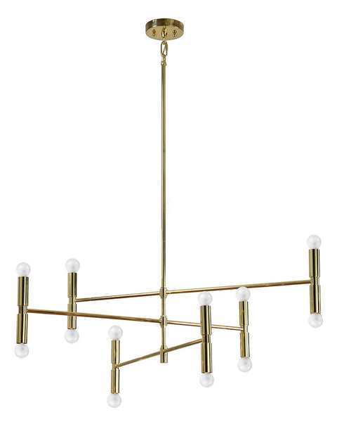 Modern Gold Chandelier, Lighting, Laura of Pembroke
