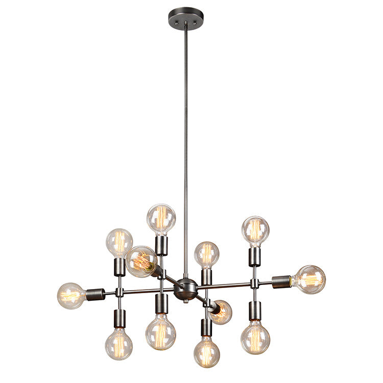 Modern 12 Light Chandelier, Lighting, Laura of Pembroke