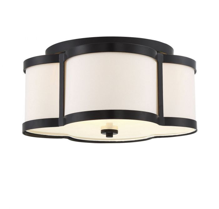 Lacey 3 Light Bronze Semi Flush