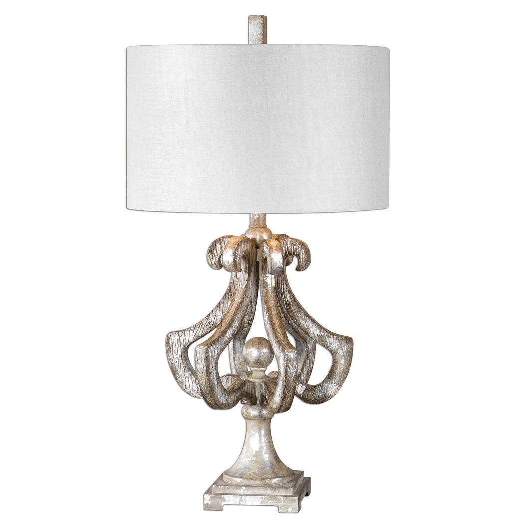 Distressed Silver Leaf Table Lamp, Home Accessories, Laura of Pembroke