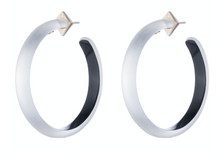 Large Slim Hoop Earring-Multiple Colors