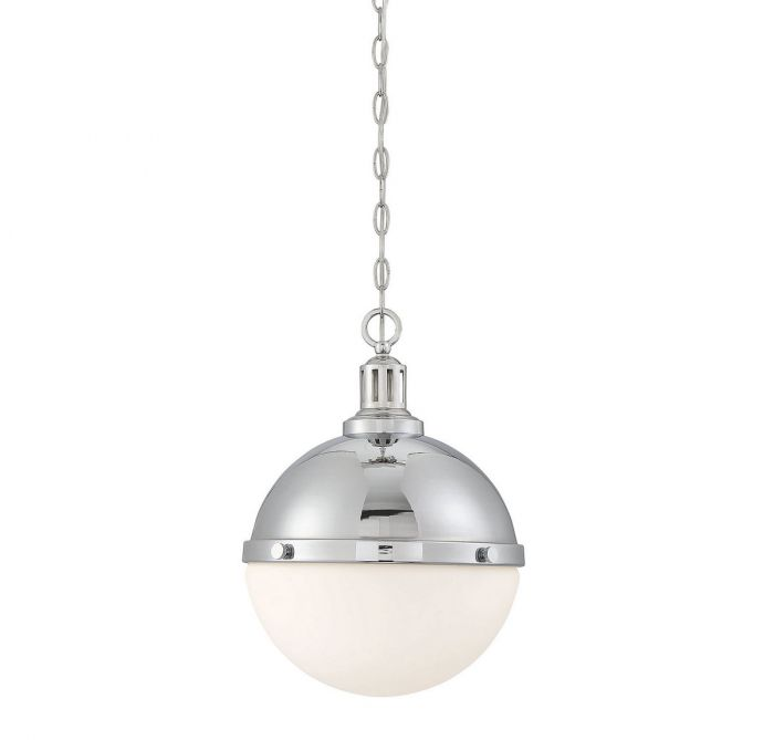 Lilly 2 Light Polished Nickel Pendant