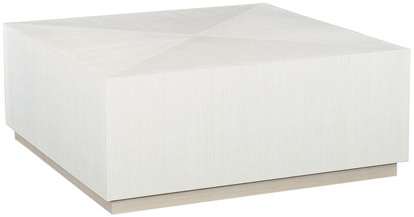 Linear White Square Cocktail Table