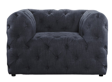 Tufted Denim Linen Chair, Home Furnishings, Laura of Pembroke