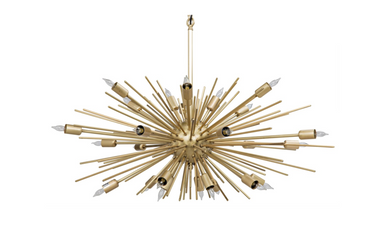 Loleil Chandelier, Antique Brass