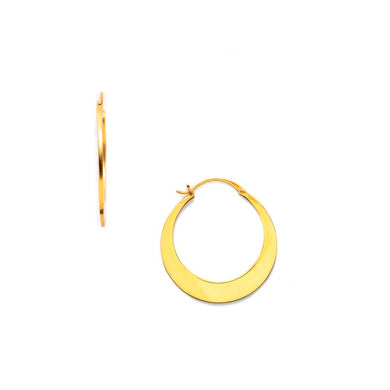 Luna Gold Medium Hoop