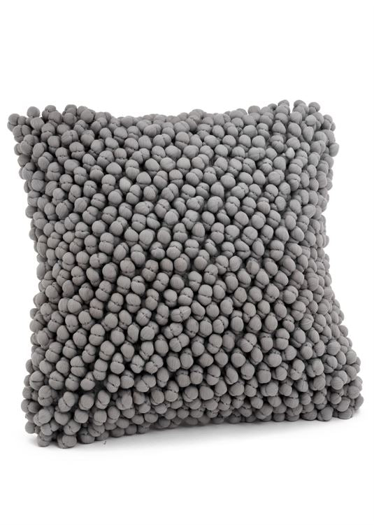 Grey Popcorn Accent Pillow