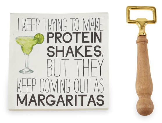 Margarita Bottle Opener Napkin Set