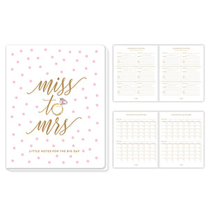 MISS TO MRS LITTLE NOTES FOR THE BIG DAY WEDDING PLANNER