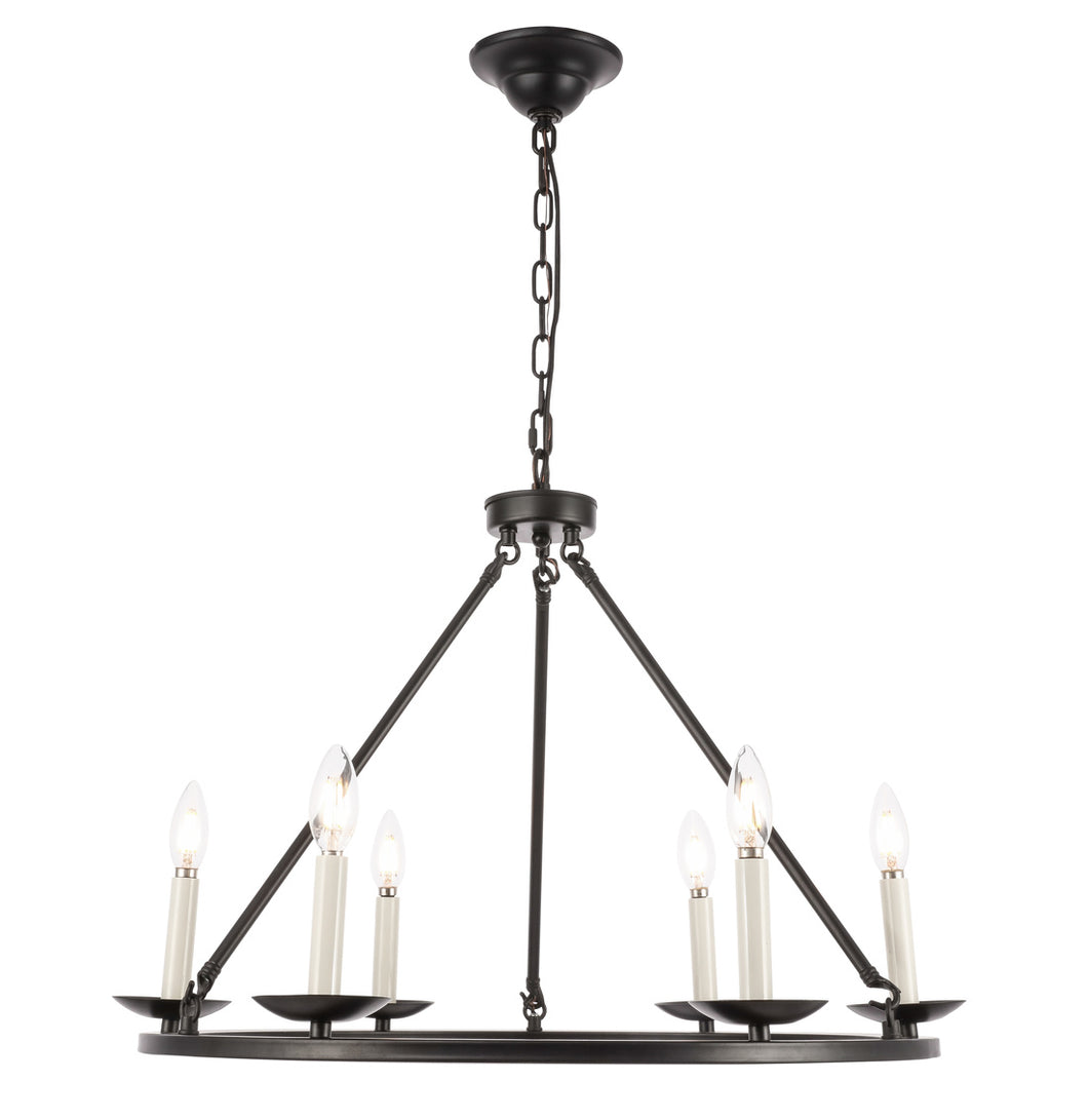 Maine Black Small Chandelier, Lighting, Laura of Pembroke