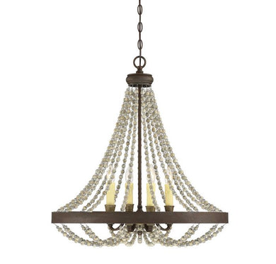 Mallory Fossil Stone 4 Light Chandelier