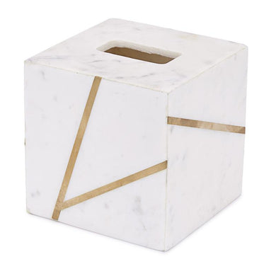 Marble and Brass Tissue Holder