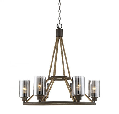 Maverick Artisan Rust 6 Light Chandelier