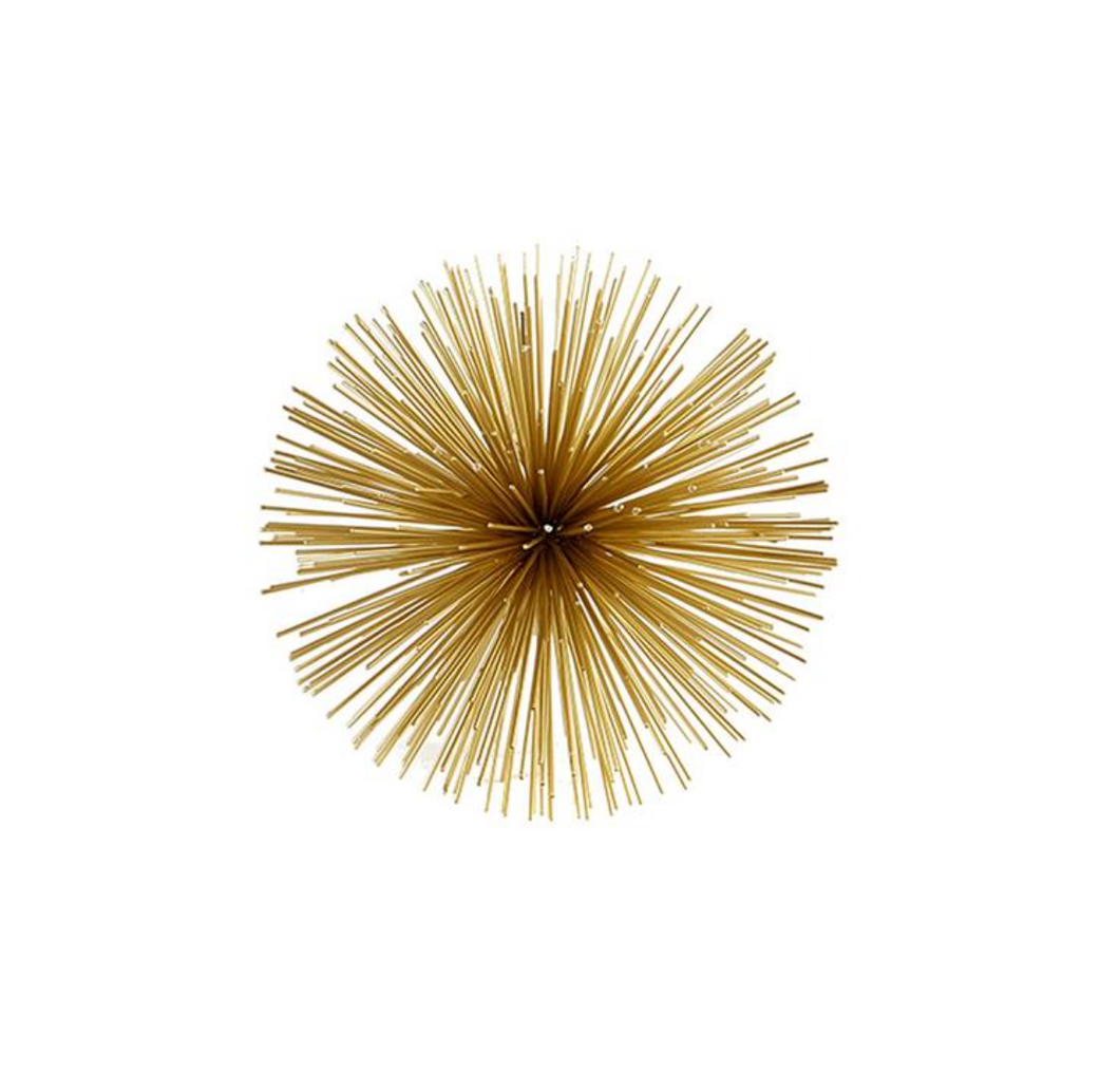 Medium Gold Starburst Ball Iron Home Accessories Home Decor Ohio Home Furnishings Laura Of Pembroke
