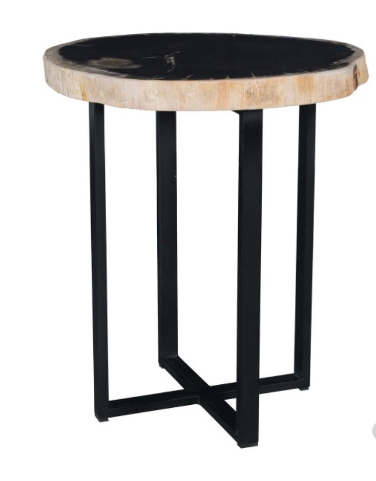 Merlin Accent Table Black & White