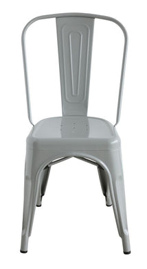 Metal Dining Chair, Grey