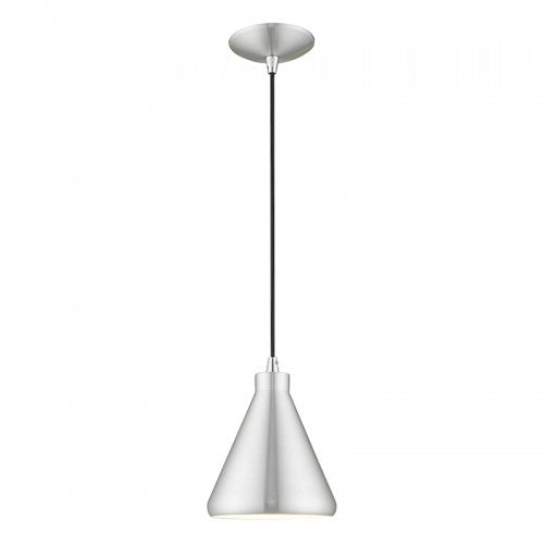 Metal Shade Mini Pendants 1 Light Brushed Aluminum Mini Pendant, Lighting, Laura of Pembroke