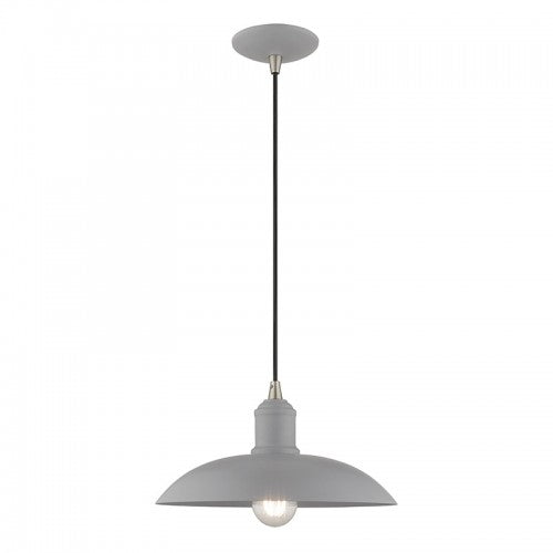 Metal Shade Mini Pendants 1 Light Nordic Gray Mini Pendant, Lighting, Laura of Pembroke