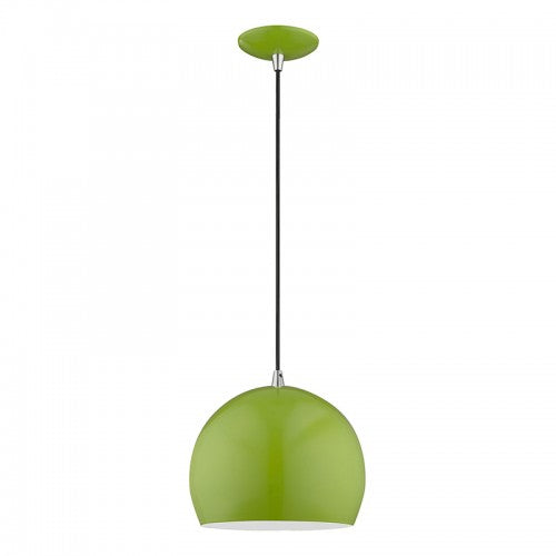 Metal Shade Mini Pendants 1 Light Shiny Apple Green Mini Pendant, Lighting, Laura of Pembroke