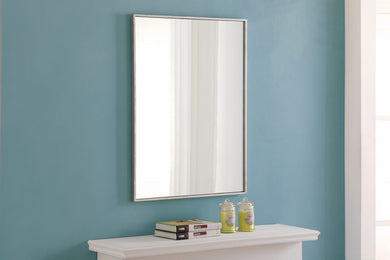 Metal frame Rectangle Mirror 24 inch Silver
