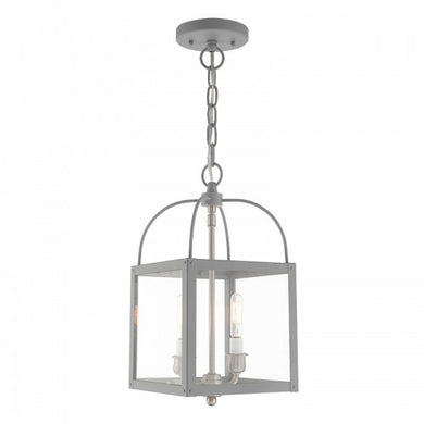 Milford 2 Light Nordic Gray Convertible Mini Pendant/Ceiling Mount, Lighting, Laura of Pembroke