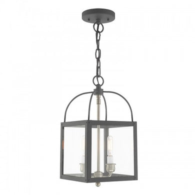 Milford 2 Light Scandinavian Gray Convertible Mini Pendant/Ceiling Mount, Lighting, Laura of Pembroke