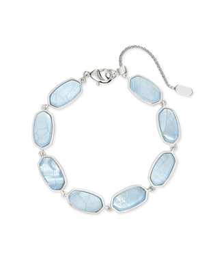 Millie Bright Silver Link Bracelet In Sky Blue Illusion