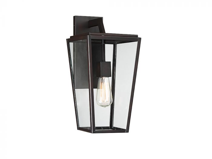 Milton English Bronze 1 Light Wall Lantern