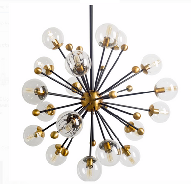 Modern Chandelier With Black Finish
