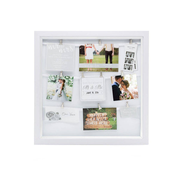 Mr. & Mrs. Wedding Clip Collage Frame